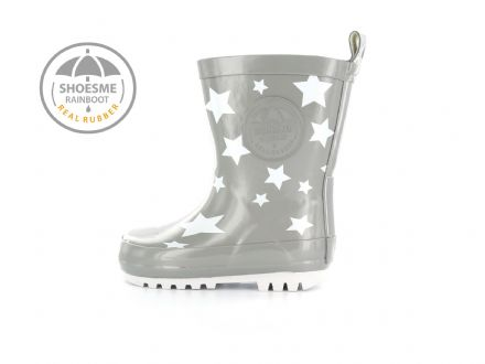 ShoesMe WELLIES with fleece sock (Grey White Star)